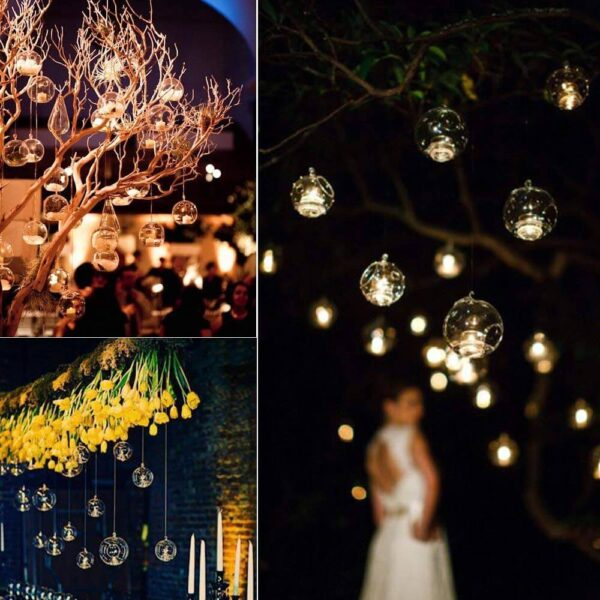 garden tea party night lights wedding