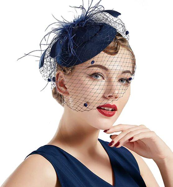 tea party hats blue