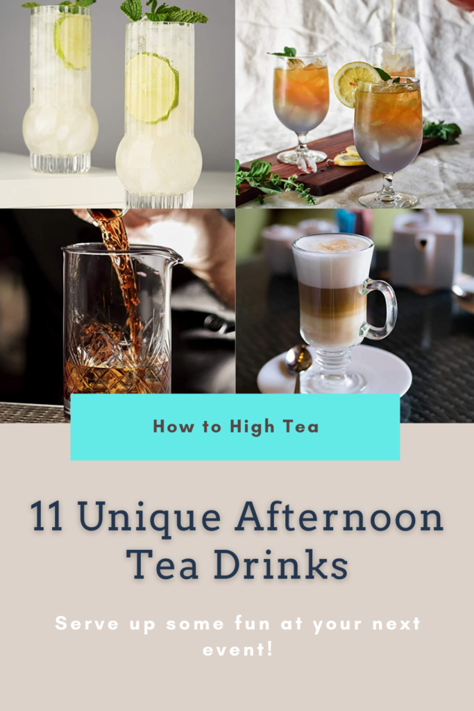 afternoon tea drinks