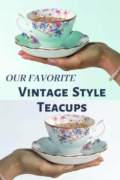 vintage style teacups